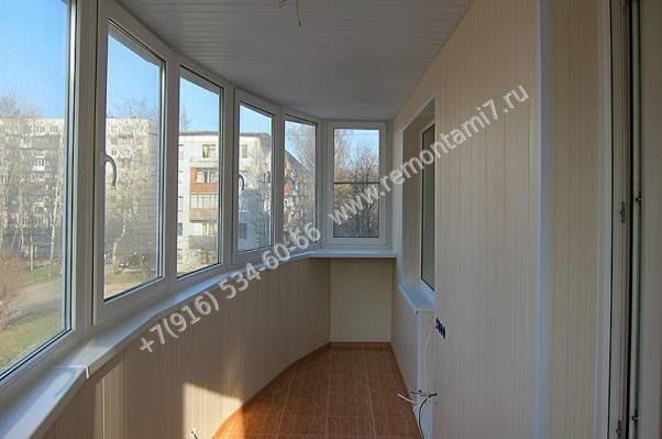 обшивка балкона пластиковыми панелями цены работы